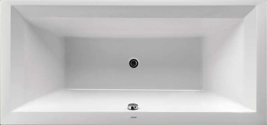 Obdélníková akrylátová vana LINEA XL 190 x 90 cm