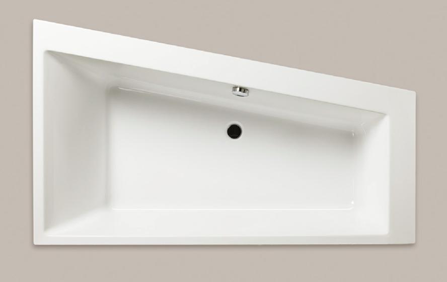 Asymetrická akrylátová vana EVO-S 170 x 100 cm, pravá nebo levá
