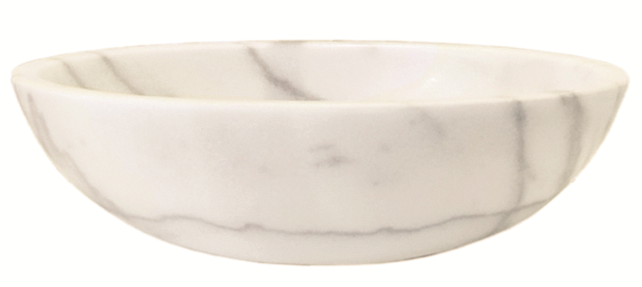 Kamenné umyvadlo Ellissi Bianco, 40,6 x 53 x 15 cm