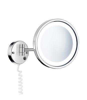 Kulaté kosmetické zrcátko s led osvětlením chrom OUTLINE 34 x 20 x 12 cm