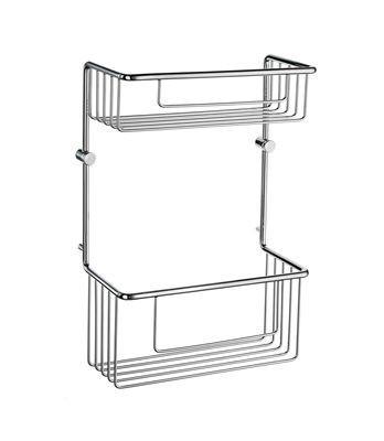 Odkládací polička mřížková chrome SIDELINE 32 x 21,5 x 11 cm