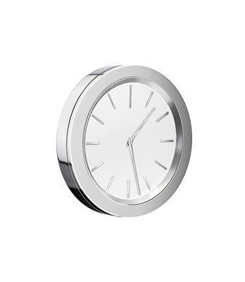 Samolepící hodiny Time bílá - chrom POOL