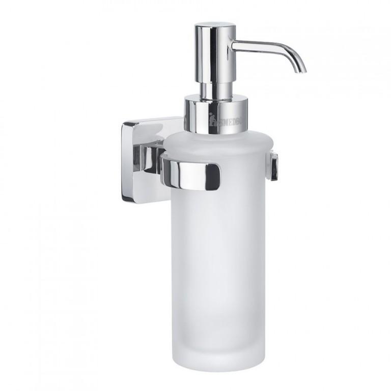 Dávkovač tekutého mýdla sklo - chrom ICE