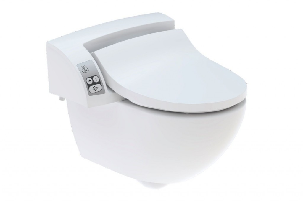Elektronické bidetové sedátko s keramickou WC mísou AQUACLEAN 5000 plus set, 485 x 550 mm