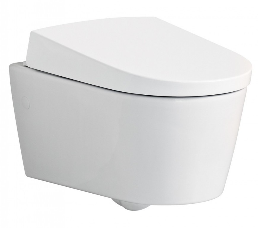 Závěsné WC s integrovanou sprchou AQUACLEAN Sela, 385 x 585 mm