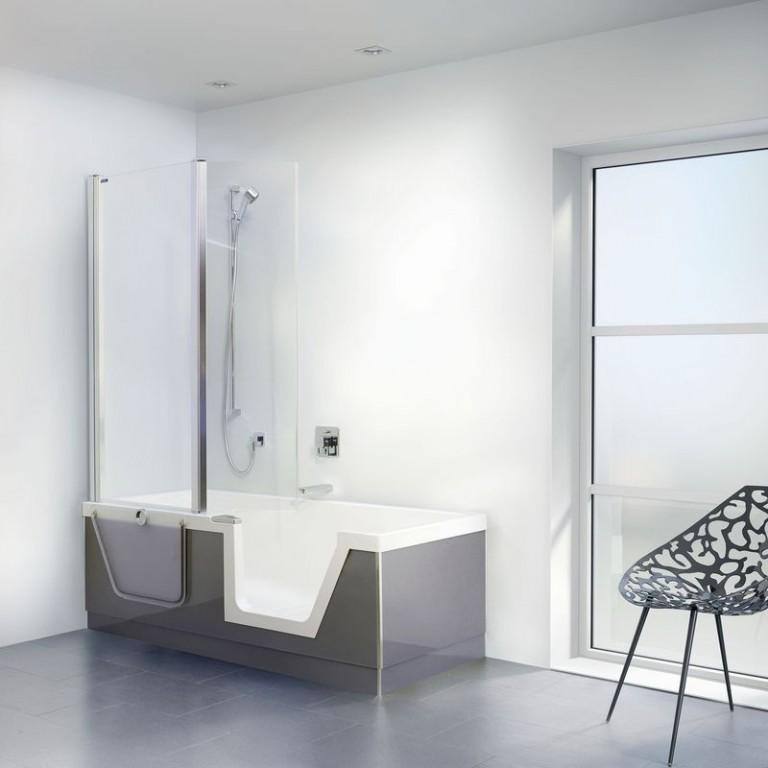 Vana a sprchový kout v jednom Step in Pure
