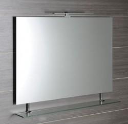 Obdélníkové zrcadlo WEGA s policí 100 x 80 cm