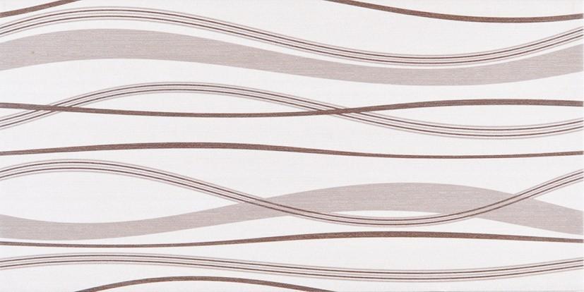 Dekor s vlnkami HABITAT Waves Ice Noce 25x50 cm