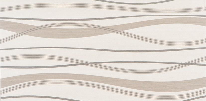 Dekor s vlnkami HABITAT Waves Ice 25x50 cm