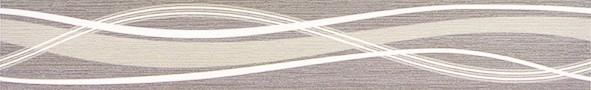Listela s vlnkami HABITAT Waves Graphite 7x50 cm