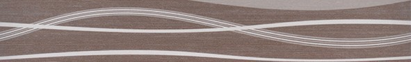 Listela s vlnkami HABITAT Waves Noce 7x50 cm