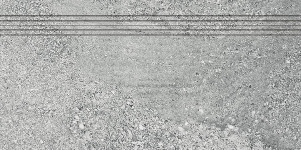 Schodovka imitace kamene STONES, 30 x 60 cm, Šedá - DCPSE667
