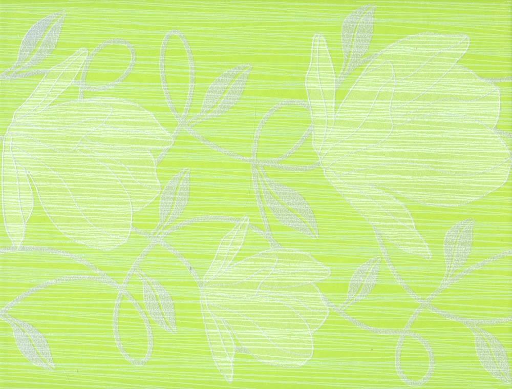 Květinový dekor RONDA Green 25 x 33 cm