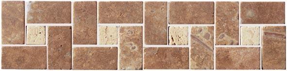 Listela TRAVERTIN, 30 x 7,5 cm, Hnědá SDMJ9010