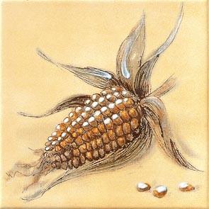 Rustikální dekor Kukuřice CLASSIC, 15 x 15 cm, Béžová - WIT1B261