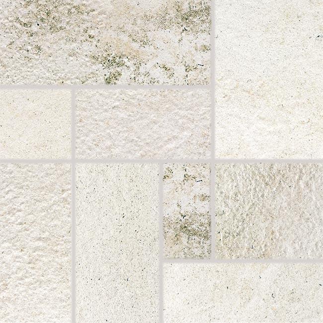 Dekor COMO, 33 x 33 cm, Bílá - DDP3B692