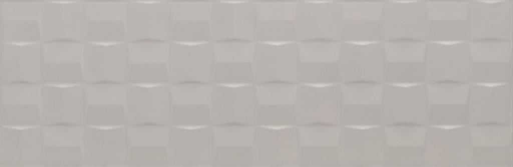 Velkoformátový dekor POTTERY Silver Struttura Cube 3D 25 x 76 cm