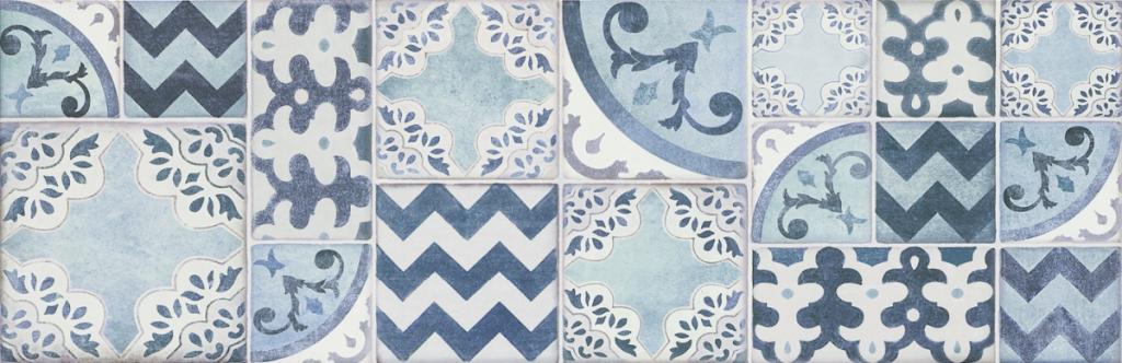 Patchwork dekor POTTERY Decoro Azulejo Light/Turq/Ocean 25 x 76 cm
