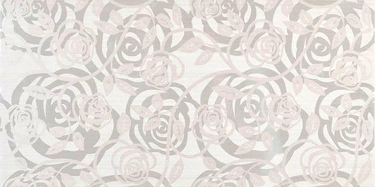 Květinový dekor ALLEGRA Fantasia Bianca 25x50 cm