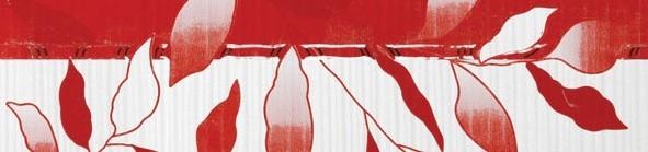 Listela VIVA Red 8 x 33 cm