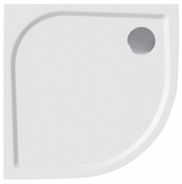 Protiskluzová sprchová vanička litý mramor čtvrtkruh 80x80x3 cm, včetně nožiček