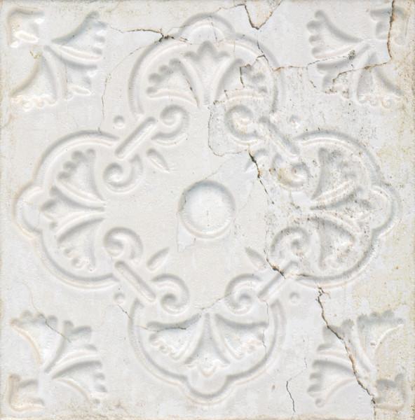 Dekorativní obklad AGED White Ornato 20x20 cm