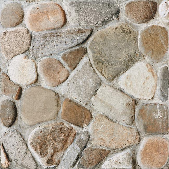 Dlažba imitace kamene PEBBLES, 33 x 33 cm, Béžovo-šedá - DAR3B702