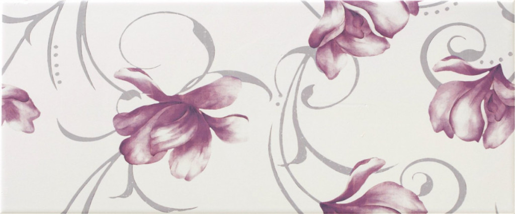Květinový dekor LUCY White DC Flower, 25 x 60 cm