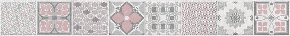Patchworková listela SMOKY White L Patchwork, 5 x 40 cm