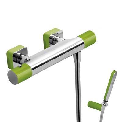 Termostatická sprchová baterie TRES - LOFT zelená