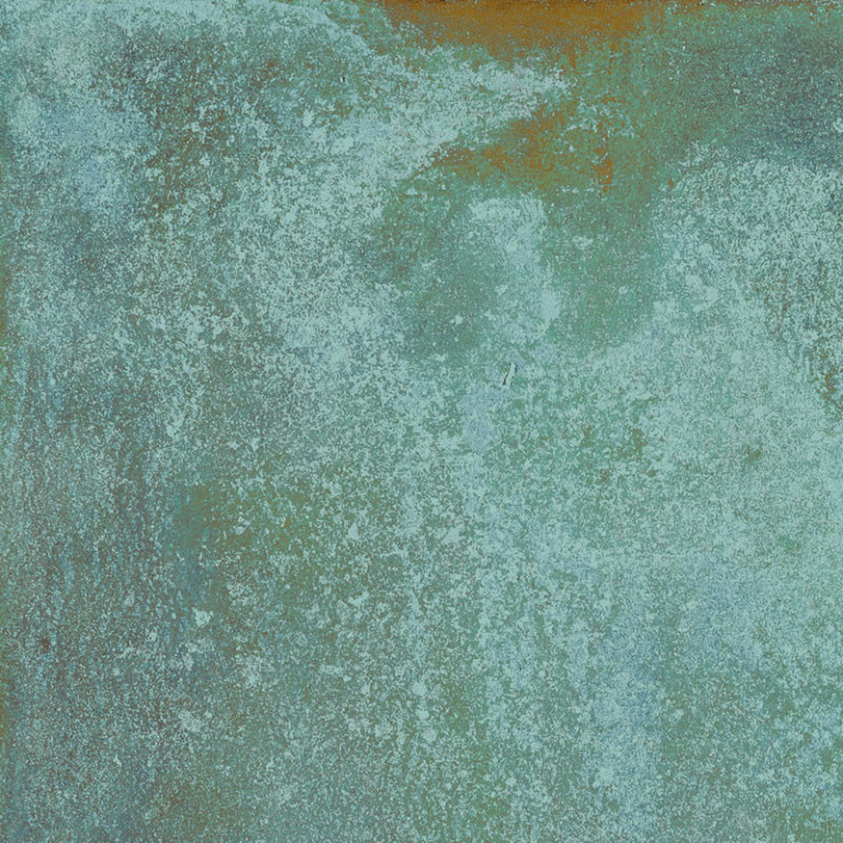 Interiérová dlažba v kovové imitaci zoxidované medi TRACE Mint 60x60