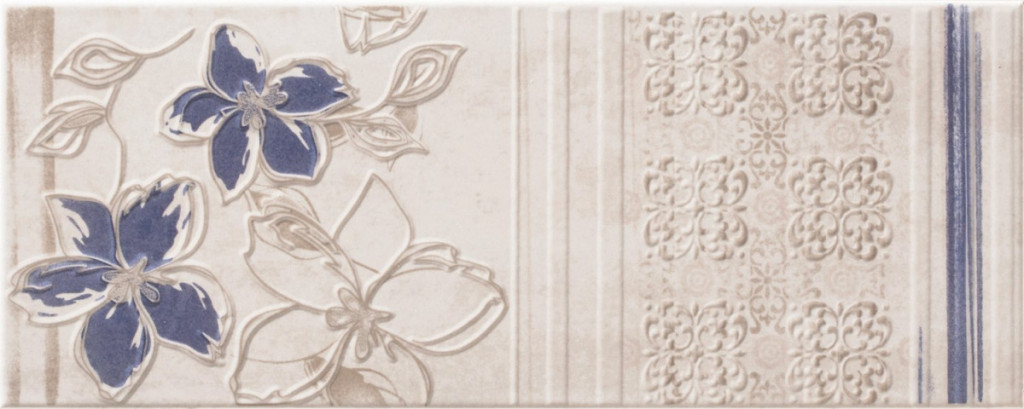 Květinový dekor CHARM White DC Flower 2 20x50