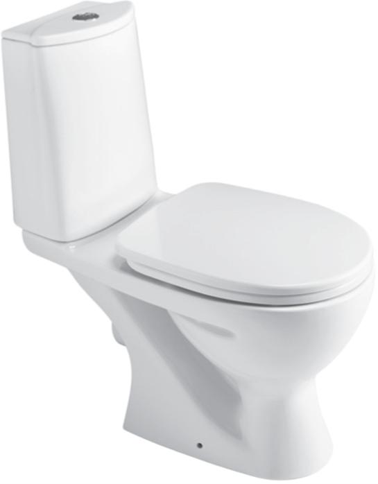 Horizontální WC kombi OCEAN bílé, bez sedátka (VO)