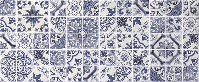 Interiérový patchworkový dekor BLOSSOM White DC Patchwork, 25 x 60 cm