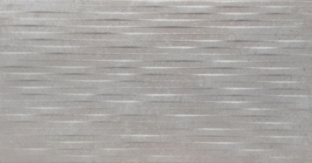 Šedý interiérový 3D dekor COVER Label Gris 31 x 60 cm
