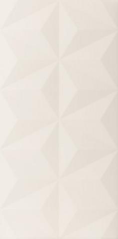 Bílý matný velkoformátový 3D dekor 4D Diamond White 40 x 80 cm