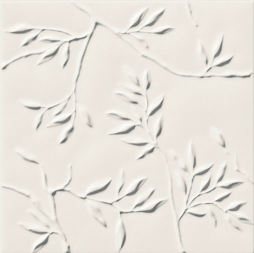 Bílý matný 3D dekor 4D Nature White 20 x 20 cm