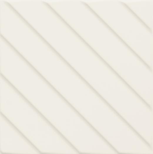 Bílý matný 3D dekor 4D Diagonal White 20 x 20 cm