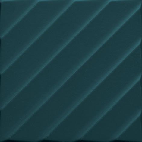 Modrý matný 3D dekor 4D Diagonal Deep Blue 20 x 20 cm