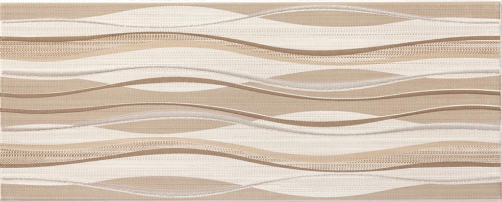 Béžový interiérový dekor vlnky ADORE Beige DC Waves 20 x 50 cm
