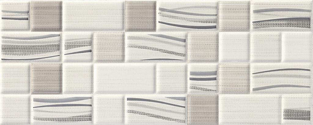 Šedý interiérový dekor mozaika ADORE White DC Mosaic 20 x 50 cm