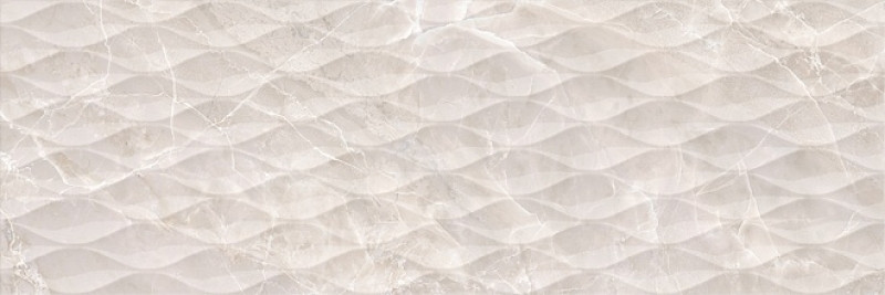 Lesklý velkoformátový 3D dekor v imitaci mramoru RICHMOND Structure Beige rett. 30 x 89,5 cm