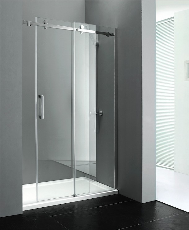 Bezrámové posuvné sprchové dveře DRAGON, čiré sklo