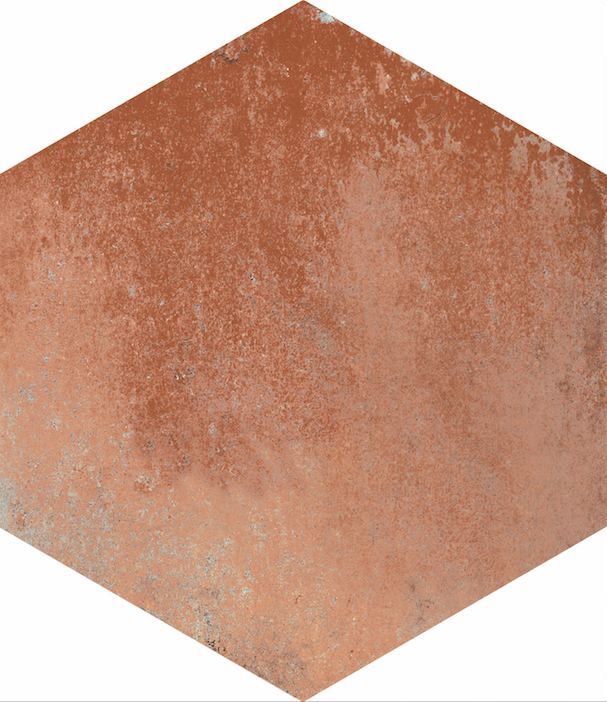 Šestiúhelníková cotto dlažba COTTI D ITALIA Marrone 21 x 18,2 cm