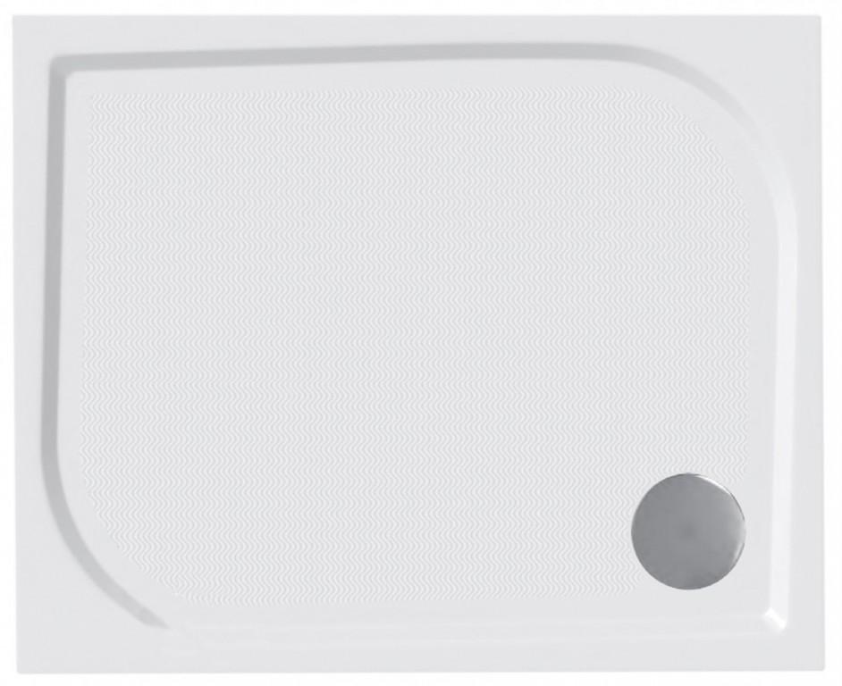 Protiskluzová sprchová vanička litý mramor obdélník 120x80x3 cm, včetně nožiček, bez sifonu