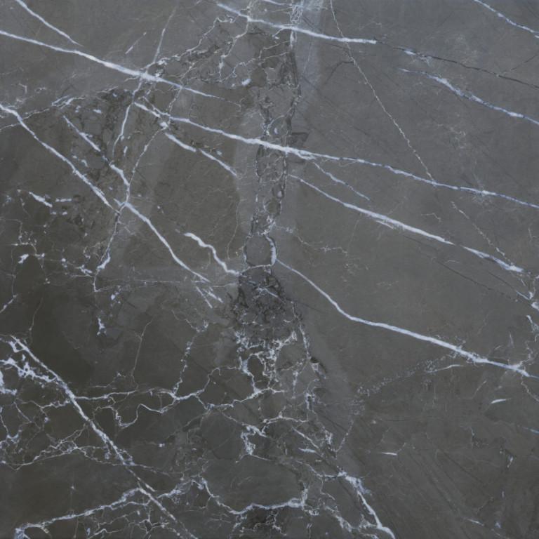 Lesklá dlažba v imitaci mramoru MUSEUM Dark 60 x 60 cm
