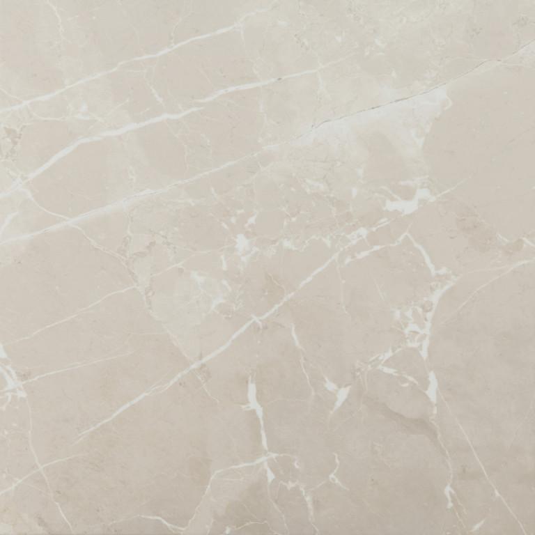 Lesklá dlažba v imitaci mramoru MUSEUM Cream 60 x 60 cm