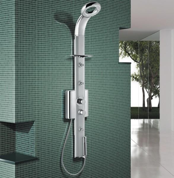 Rohový sprchový panel SENZA NEW Therm s termostatickou baterií