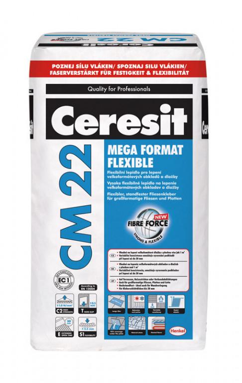 Flexibilní lepidlo pro velkoformátové obklady CM 22 Mega Format Flexible