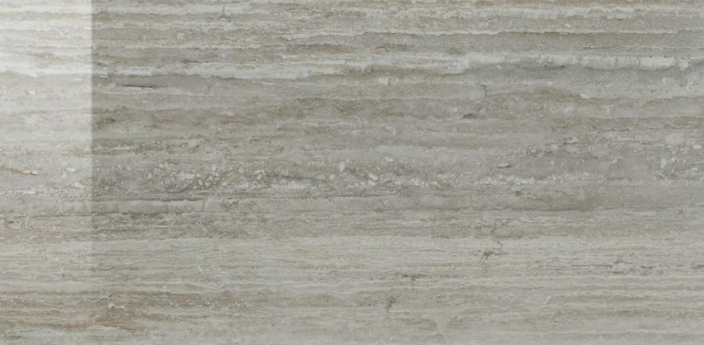 Interiérová dlažba leštěná v imitaci travertinu TALE Silver Verso Lucidato 60x120